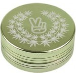 Grinder - aluminium - peace - 50mm (green and black)