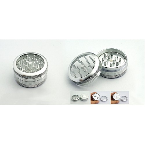 Grinder -  metal - with a Pushclean system - 2 parts -  Ø 56 mm  - TOP GRINDER