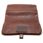 Kavatza roll pouch, cognac brown