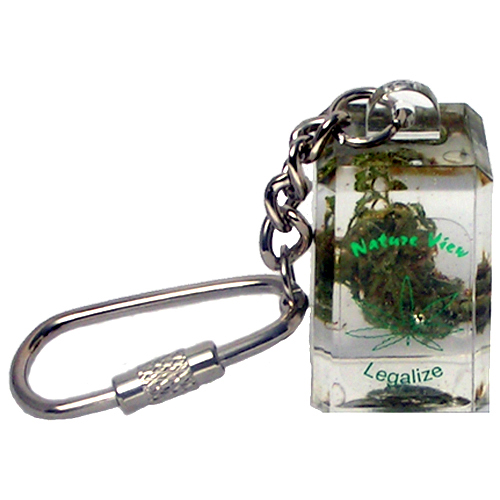 Weed keychain, with a real piece of WEED inside - the original
