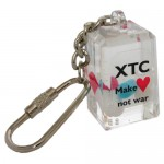 XTC keychain - filled with look-a-like XTC and pills